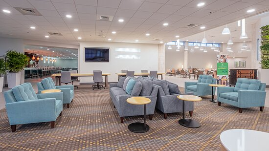 Plenty of space to spread out and relax in our Lobby Lounge
