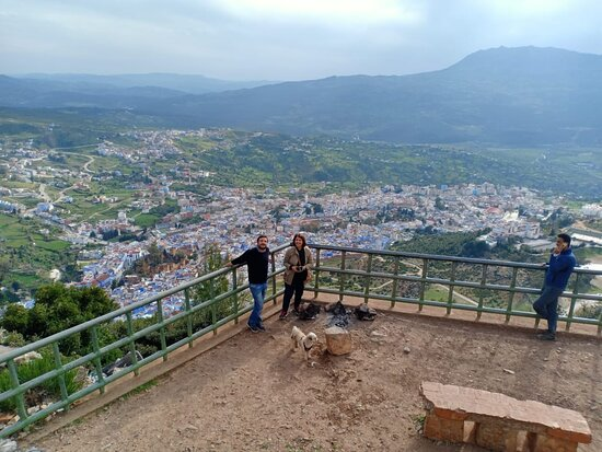 Half Day Rif valley Excursion from Chefchaouen: View of Chefchaouen on the way back