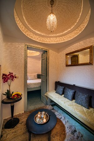 A small quirky room converted from a traditional hammam, the Moroccan equivalent of a Turkish bath.