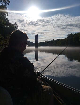 Early morning on the White River with Custom Adventures Guide Service!