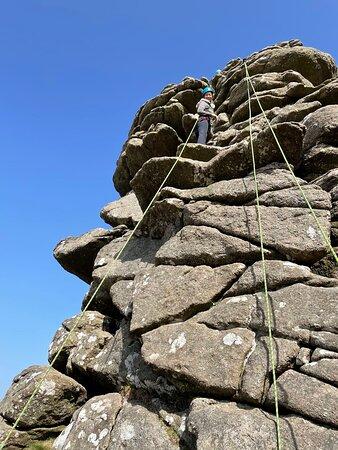 Dartmoor climbing with Dynamic Adventures