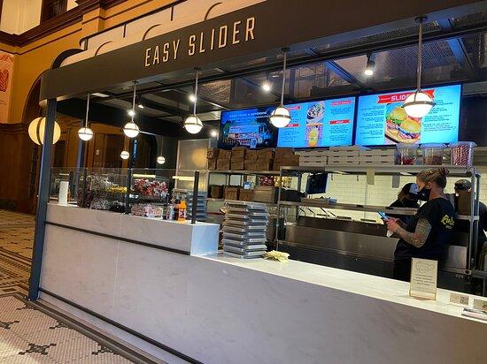 Easy slider burger stall