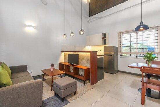 Living Area in One Bedroom