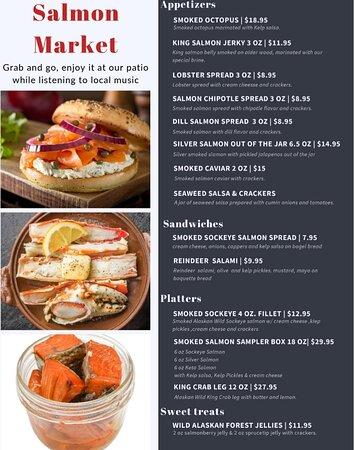 Salmon Market patio menu