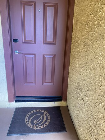 Door to unit showing the step up