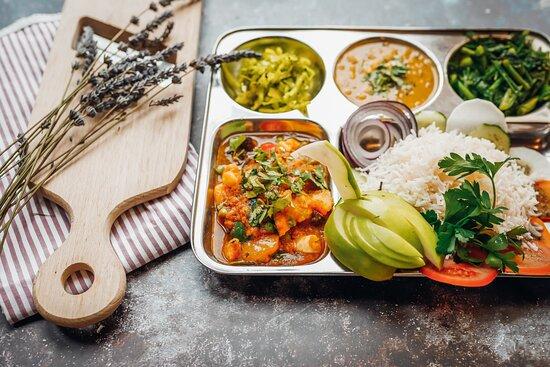 Grafing, Německo: Suddha Shahkari Dal Bhat - vegan und super lecker! Auch to go.