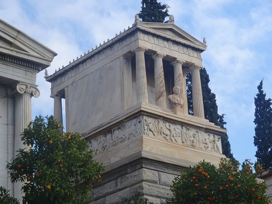 The Tomb of Heinrich Schliemann in the First Cemetery of Athens - Athens, Greece