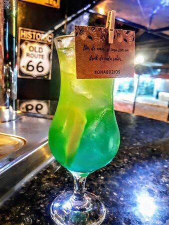 Nosso Drink Malibu tropical.