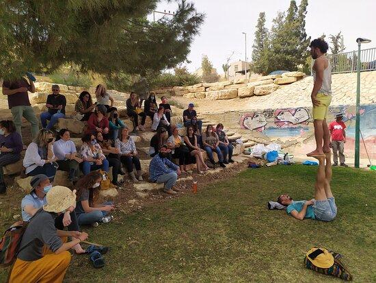 Mitspe Ramon, Israel: בסיור לעובדות ועובדי המועצה