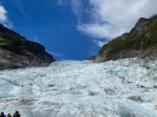 Heli Hike Fox Glacier: Looking up Fox Glacier