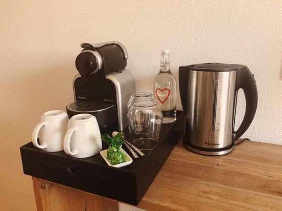 al onze kamers beschikken over koffie/thee voorziening