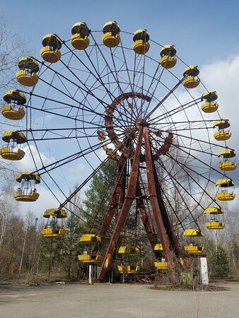 Full-Day Tour of Chernobyl and Prypiat from Kyiv: Колесо обозрения в Припяти