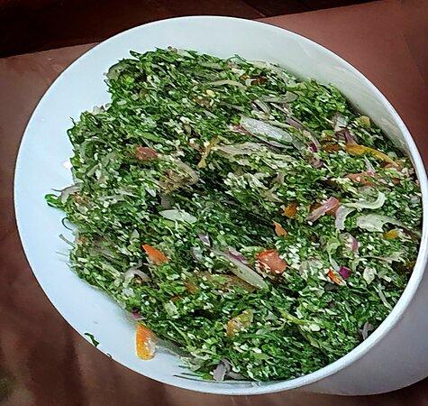 Fresh veggie sambal salad