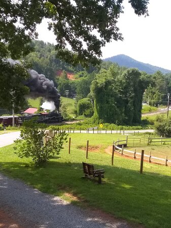 A view of the Smokey Mt railroad... from the front porch