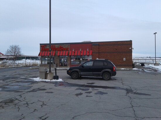 Tim Horton's between Pizza Hut and the mall.