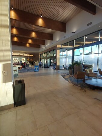 Photo of the main entrance to the lobby