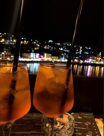 Montenegro: Cocktail at Bar Kalaja with this view.
