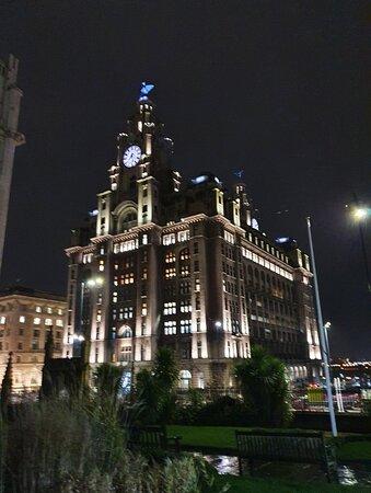 The Royal Liver Building along Pier Head.