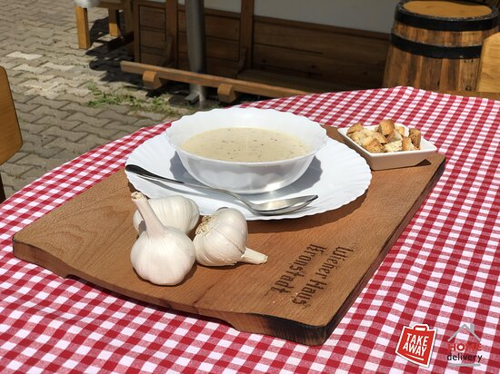 """Originale Wiener Schmankerl """" Knoblauchcremesuppe """" - Supa crema de usturoi"""