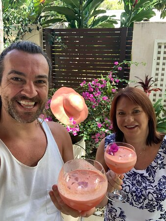 We call it a Coral Splash. There was a NutriBullet in the villa that was perfect for cocktails