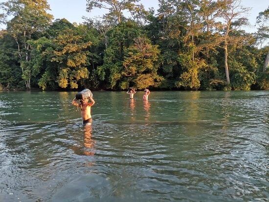 Rio Claro, river crossing at corcovado national park!
