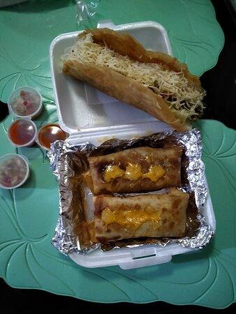fried burritos and jumbo taco