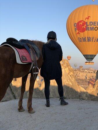 watching the balloons at dawn