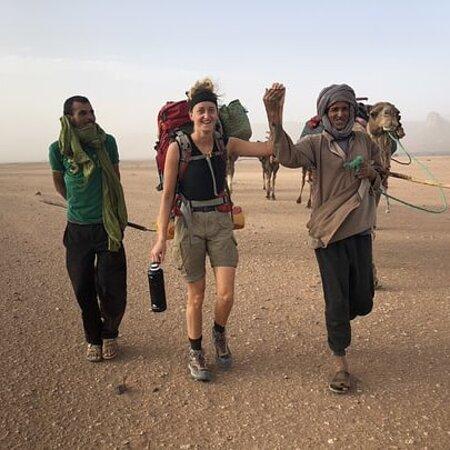 Desert trekking from foul zguid,Morocco to lake iriki,chegaga