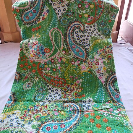 Handmade Kantha work bedspreads