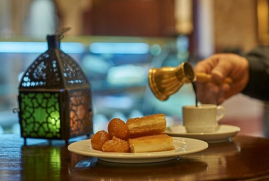 Enjoy the perfect coffee and sweet oriental treats at Cafe Corniche.