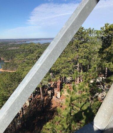 Jacksons Gap, AL: Area below the tower.