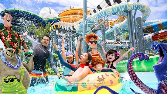 """Жомтьен-Бич, Таиланд: SONY PICTURES ENTERTAINMENT AND AMAZON FALLS TO OPEN WORLD'S FIRST COLUMBIA PICTURES THEME AND WATERPARK IN THAILAND  Rides and Attractions Will Start Opening From October 2021 at """"Columbia Pictures' Aquaverse"""""""