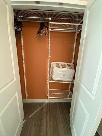 Closet located in bathroom