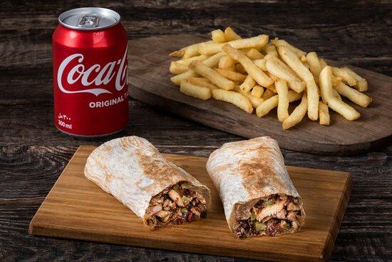 COMBO - Chicken Shawarma + Side + Beverage
