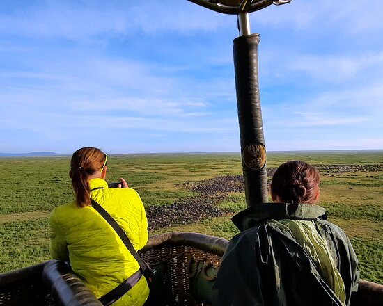 Serengeti Balloon Safari: View of the migration from the baloon is a treat.