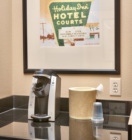 All rooms offer Keurig coffee makers and mini fridges