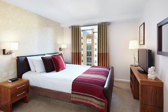 1-Bed Suite Bedroom at Staybridge Suites Newcastle upon Tyne