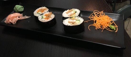 Sushi platter  - vegetarian and chicken rolls