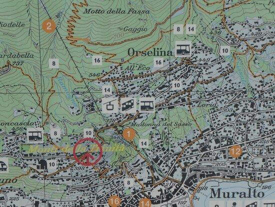 'Monti della Trinitá' on a map