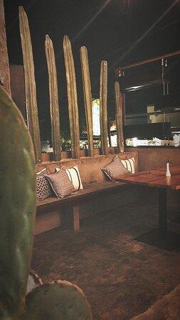 El area verde del Restaurante