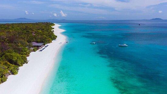Amanpulo Philippines Beach Beachfront Western shore High Res