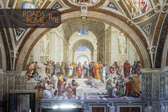 """Raphael masterpiece """"The School of Athens"""" in the Vatican Museum"""