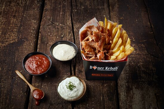 Doner Box with Fries & Sauces