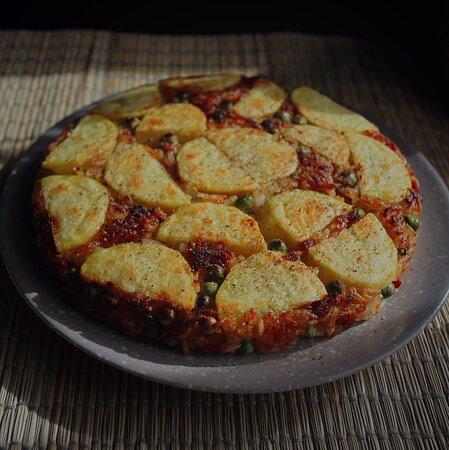 Arroz Seco con Jamón y Patata