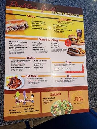 Parkton, NC: menu