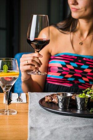 Stek i Wino