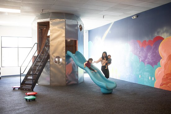 Cary, NC: Rocketship climbing structure with a slide and a hidden third level!