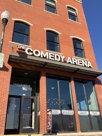 Outside the Comedy Arena by day.