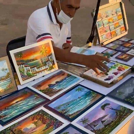 Incredible artist Mr. Jorge Lopez at work!!!
