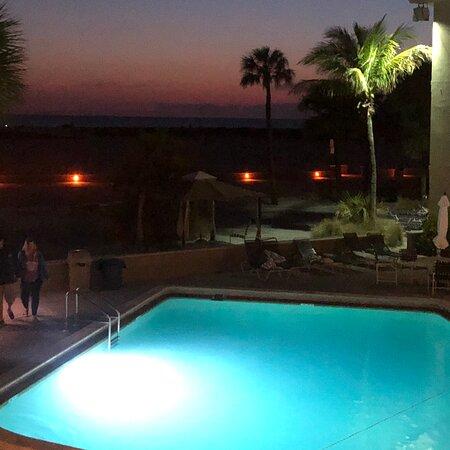 Thunderbird beach resort pool view and treasure island beach